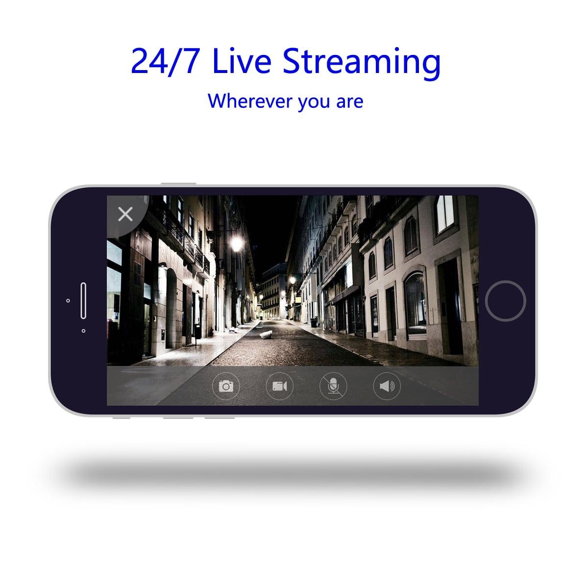 24/7 HD 720P live streaming